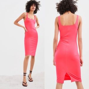 Zara Pink Bubble Gum Body Con Dress